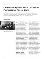 Montessori ve Reggio Emilia