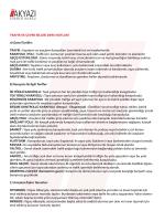 Trafik ve Çevre Bilgisi Ders Notları