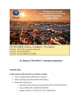 16. Dönem TND SPSCG İstanbul toplantıları