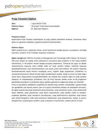 ANTET - 1 - PDR Open Platform