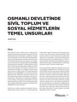 osmanlı devletinde sivil toplum ve sosyal hizmetlerin temel unsurları