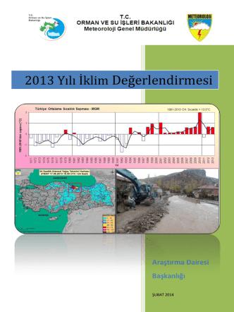 2013 Yılı İklim Değerlendirmesi