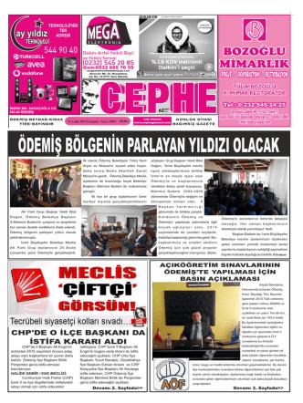 25.12.2014 Tarihli Cephe Gazetesi