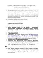 Programa Kayıt İçin Gerekli Belgeler • Onaylı Mezuniyet Belgesi ya