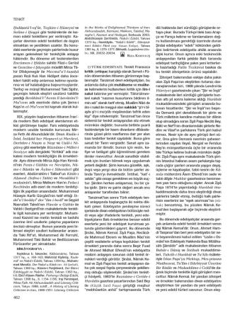 462 TENKİT kritik (critique) karşılığı olarak Servet-i Fü