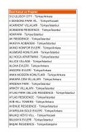 Özel Konut ve Projeler 312 ULUSOY CITY