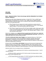 2014-049 Elektronik Defter Tutma Zorunluluğu Getirilen Mükellefler