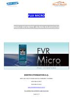 FVR Micro Hızlı devreye alma kılavuzu