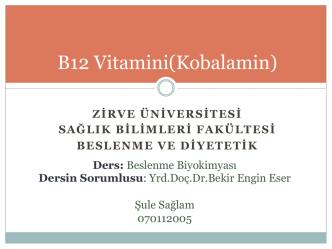 B12 Vitamini(Kobalamin)