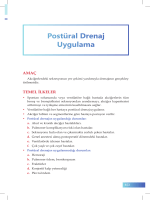 Postüral Drenaj Uygulama - İzmir Güney Kamu Hastaneleri Birliği