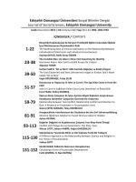 Giriş - Eskişehir Osmangazi Üniversitesi Sosyal Bilimler Dergisi