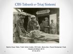 CBS Tabanlı e-Triaj Sistemi - Akademik Bilişim Konferansları