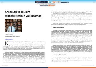 Bildiri- Arkeoloji ve bilişim teknolojilerinin yakınsaması