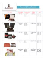 2014 Kurumsal Çikolata Kataloğu