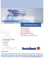 Yurt Dışı Gelişmeler DenizBank Ekonomi Bülteni 20 Ocak 2014