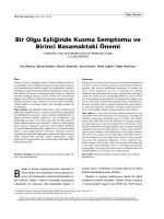 BÜR OLGU - Türkiye Aile Hekimliği Dergisi