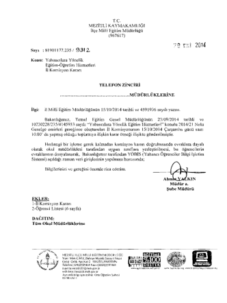 bA~15J14 Riliil!(1 - mersin - mezitli ilçe millî eğitim müdürlüğü