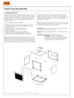 Proline duvar tip kabinetler