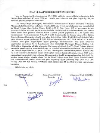 16.12.2014 imar ve bayındırlık komisyon raporu