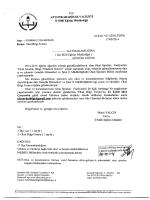 Müdürlüğümüzün konu ile ilgili 17/09/2014 tarih ve 4002638 sayılı