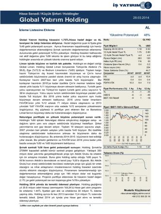 28/03/2014 - İş Yatırım