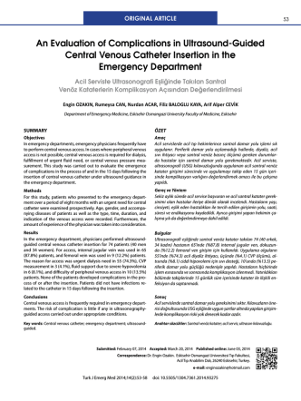 An Evaluation of Complications in Ultrasound