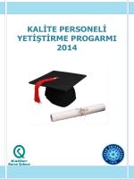 kalite personeli yetiştirme progarmı 2014