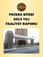 Patara Site Yönetimi 2013 yılı faaliyet raporunu
