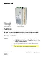 PME71.111 Brülör kontrolleri LME71.000 için program