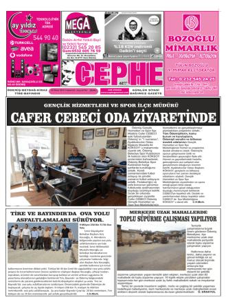 18.10.2014 Tarihli Cephe Gazetesi