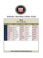 8-A Ders Programı - Eskişehir Amerikan Kültür Koleji Resmi Sitesi