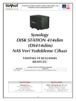 Synology DS414Slim Kullanım Kılavuzu
