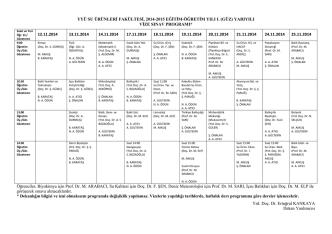 2014-2015 eğitim-öğretim yılı ı. (güz)