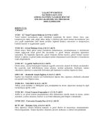VCD 2014-2015 Akademik Yılı Ders Programı İçerikleri