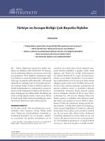 Türkiye ve Avrupa Birliği: Çok Boyutlu İlişkiler