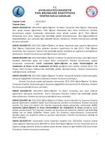 karar 2014/007 - Afyon Kocatepe Üniversitesi