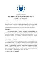 Zorunlu Staj Kılavuzu - Yaşar Üniversitesi | Elektrik