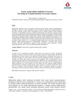 Sistem Analizi Eğitim Simülatörü Tasarımı