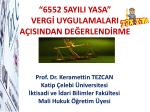 6552 sayılı torba yasa semineri