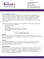 Cilt Hastalıkları Tedavisi ANTI AGING TEDAVİLER BOTOX DOLGU