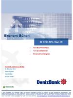 Yurt Dışı Gelişmeler DenizBank Ekonomi Bülteni 22 Eylül 2014