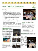 PYP 3.SINIF 3. Veli Bülteni