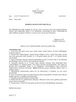 03-06-2014 Tarihinde Yapılacak Olan Nakil Sınav