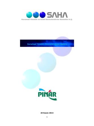 20.11.2014 - SAHA Kurumsal Yönetim ve Kredi Derecelendirme