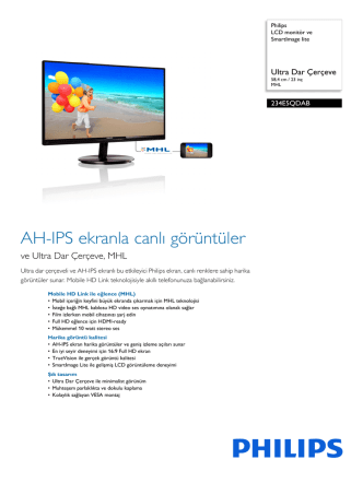 234E5QDAB/00 Philips LCD monitör ve SmartImage lite
