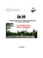 1. DUYURU - Zemin Mekaniği ve Geoteknik Mühendisliği Derneği