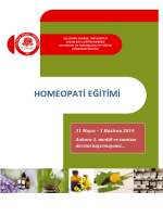 HOMEOPATİ EĞİTİMİ - Homeopati kursu 2015