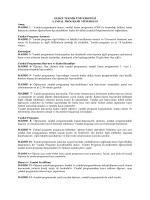Yandal Programı Yönergesi - Gebze Yüksek Teknoloji Enstitüsü