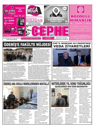 18.12.2014 Tarihli Cephe Gazetesi
