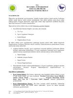 Staj Defteri - Sosyal Bilimler Meslek Yüksekokulu